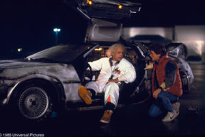 "Michael J. Fox and Christopher Lloyd in ""Back to the Future."""