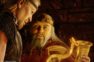 "Ray Winstone and Anthony Hopkins in ""Beowulf."""