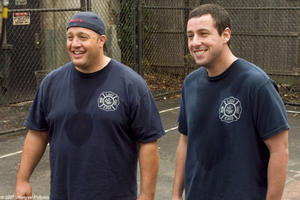 "Kevin James and Adam Sandler in ""I Now Pronounce You Chuck and Larry."""