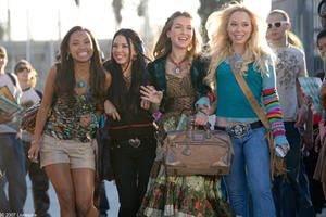 "Logan Browning, Janel Parrish,  Nathalia Ramos and Skyler Shaye in ""Bratz."""