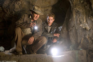 Harrison Ford and Shia LaBeouf in &quot;Indiana Jones and the Kingdom of the Crystal Skull.&quot;