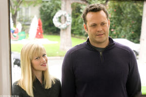"Reese Witherspoon as Kate and Vince Vaughn as Brad in ""Four Christmases."""