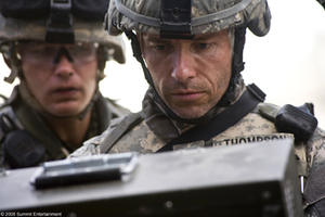 "Guy Pearce as Sgt. Matt Thompson in ""The Hurt Locker."""