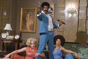 "Michael Jai White as Black Dynamite in ""Black Dynamite."""