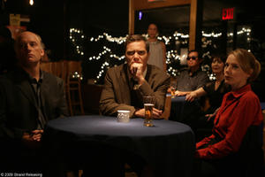 "Frank Wood as Harold Fullmer, Michael Shannon as John Rosow and Amy Ryan as Miss Charley in ""The Missing Person."""