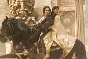 "Jake Gyllenhaal as Prince Dastan and Gemma Arterton as Tamina in ""Prince of Persia: The Sands of Time."""