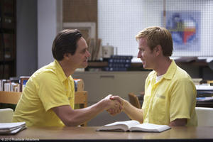 "Jim Carrey as Steven and Ewan McGregor as Phillip in ""I Love You Phillip Morris."""