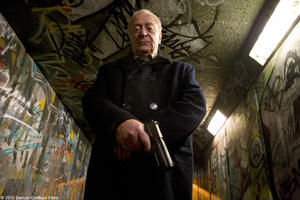 "Michael Caine as Harry Brown in ""Harry Brown."""