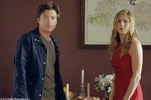 "Jason Bateman as Wally and Jennifer Aniston as Kassie in ""The Switch."""
