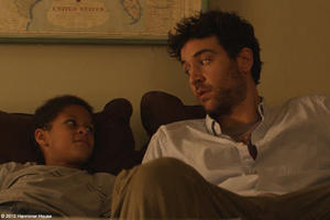 "Michael Algieri as Rasheen and Josh Radnor as Sam in ""Happythankyoumoreplease."""