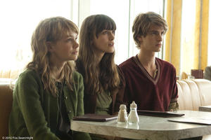 "Carey Mulligan as Kathy, Keira Knightley as Ruth and Andrew Garfield as Tommy in ""Never Let Me Go."""