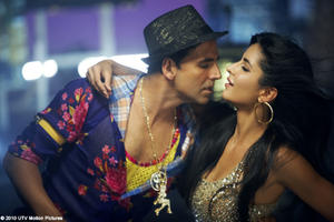 "A scene from ""Tees Maar Khan."""