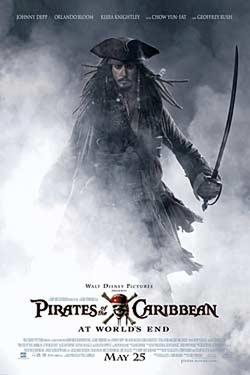 "Poster art for ""Pirates of the Caribbean: At World's End."""