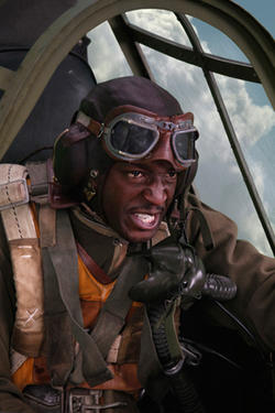 Elijah Kelley as Samuel 'Joker' George in ``Red Tails.''