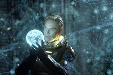 Michael Fassbender as David in ``Prometheus.''