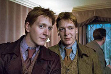 "James and Oliver Phelps in ""Harry Potter and the Deathly Hallows: Part 1"""