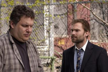 "Jeff Garlin and Seann William Scott in ""Trainwreck: My Life as an Idiot."""
