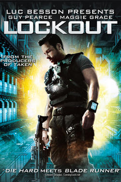 "Poster art for ""Lockout."""