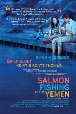 "Poster art for ""Salmon Fishing in the Yemen."""