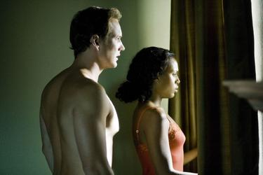 "Patrick Wilson as Chris Mattson and Kerry Washington as Lisa Mattson in ""Lakeview Terrace."""