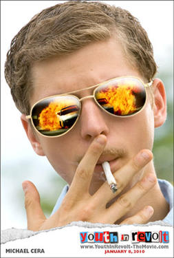 "Poster art for ""Youth in Revolt."""