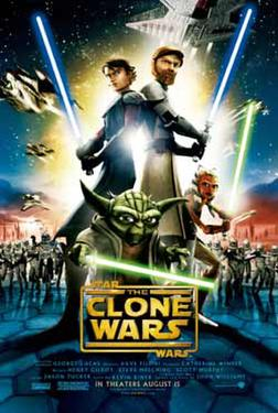 "Poster art for ""Star Wars: The Clone Wars."""