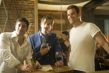 Jason Biggs as Sergei, Justin Kirk as Henri and Geoff Stults as Nicolas in ``Life Happens.''