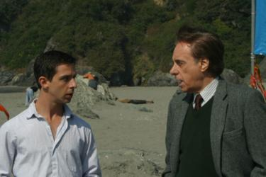 "Jeremy Strong and Peter Bogdanovich in ""Humboldt County."""