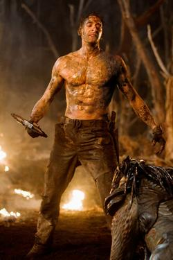 "Adrien Brody as Royce in ""Predators."""