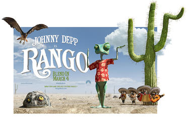 "Poster art for ""Rango."""