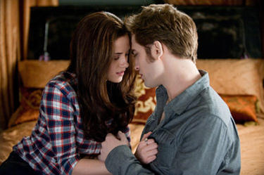 "Kristen Stewart and Robert Pattinson in ""The Twilight Saga: Eclipse."""