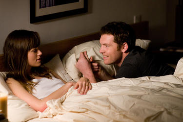 "Keira Knightley and Sam Worthington in ""Last Night."""