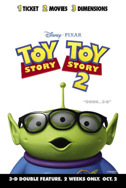 "Poster art for ""Toy Story Double Feature."""