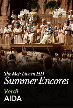 "Poster art for ""Met Summer Encore: Aida."""
