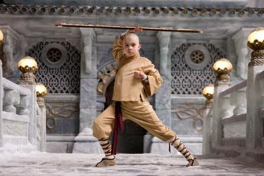 "Noah Ringer in ""The Last Airbender."""