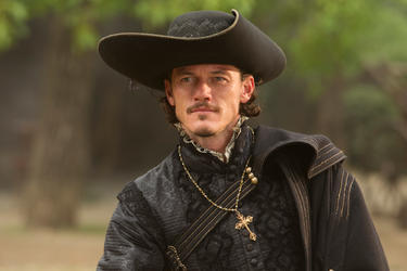 "Luke Evans in ""The Three Musketeers."""