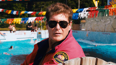 "David Hasselhoff in ""Piranha 3DD."""