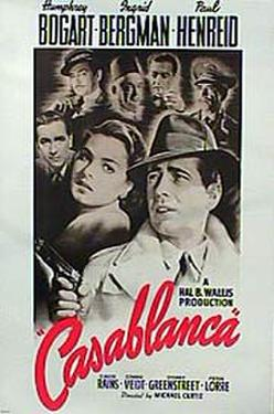 "Poster art for ""Casablanca."""