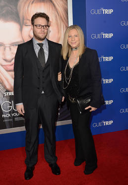 "Seth Rogen and Barbra Streisand at the California premiere of ""The Guilt Trip."""