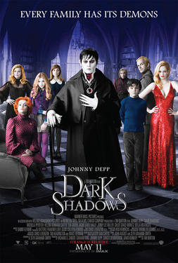 "Poster art for ""Dark Shadows."""