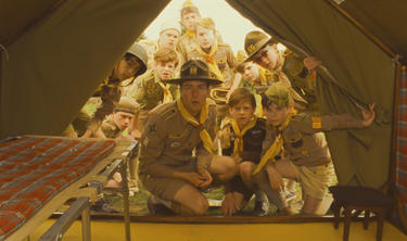 "Edward Norton as Scout Master Ward in ""Moonrise Kingdom."""