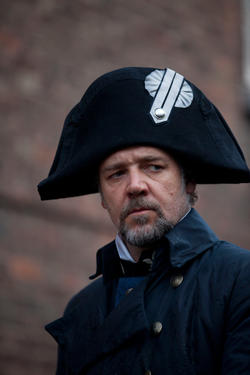"Russell Crowe as Inspector Javert in ""Les Miserables."""