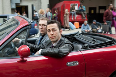 "Joseph Gordon-Levitt as Joe in ""Looper."""