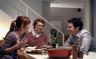 "Zoe Kazan as Ruby, Paul Dano as Calvin and Chris Messina as Harry in ""Ruby Sparks."""