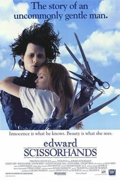 "Poster art for ""Edward Scissorhands."""