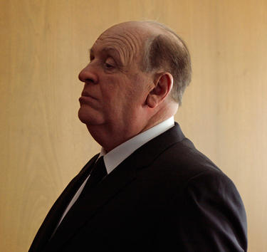 "Anthony Hopkins as Alfred Hitchcock in ""Hitchcock."""