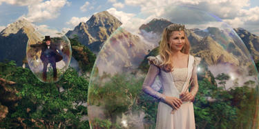 "James Franco and Michelle Williams in ""Oz: The Great and Powerful."""