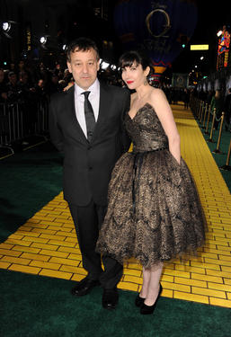 "Director Sam Raimi and Gillian Raimi at the California premiere of ""Oz The Great and Powerful."""