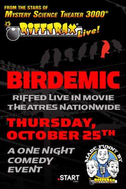 "Poster art for ""RiffTrax Live: Birdemic."""