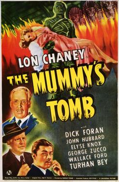 "Poster art for ""The Mummy's Tomb."""